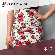 Floral Bodycon Skirt Listed BM for visibility Brandy Melville Skirts Mini