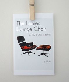 Art Print Poster The Eames Lounge Chair by Ray by SacredandProfane, $8.00