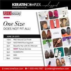 Learn how to maximize your revenue + deliver beautiful hair every day with Keratin Complex. #keratintreatments for every hair type + texture! 📆Monday, June 28 ✅For More Information contact us: 📲Call Now: 1-800-446-3987 📩Mail Us: orders@ronwilson.com . . #beautifulhaireveryday #kcunplugged #frizzfree #healthyhair #virtualeducation #onlineeducation #hairclass #hairtips101 #stylist #salonowner Natural Curls, Natural Hair Styles, Wholesale Beauty Supplies, Perfect Hair Color, Elements Of Color, Keratin Complex, Beauty First, Hair Color Shades, Permanent Hair Color