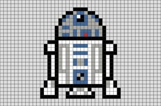 Star Wars Pixel Art In a galaxy far, far away. pronounced Artoo-Detoo and often referred to as Artoo, was an series astromech droid manufactured by Industrial Automaton with masculine programming. Small Cross Stitch, Cross Stitch Designs, Cross Stitch Patterns, Pixel Art Star Wars, Cross Stitching, Cross Stitch Embroidery, Pixel Art Minecraft, Image Pixel Art, Easy Pixel Art