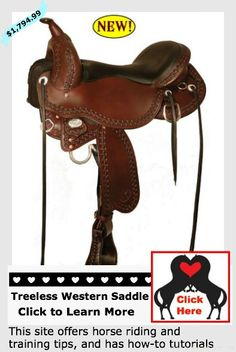 This #treelesswesternsaddle offers a triple rigging and multiple seat sizes