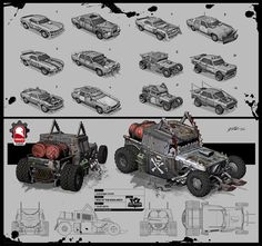ArtStation - Rise of the Badlands Vehicles, Kris Thaler