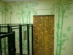 A Bamboo Wall Mural.  by Nests...by Robin