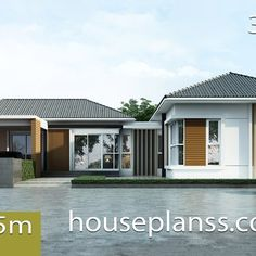 Small House Design Plans with 2 Bedrooms Full Plans - House Plans Sam Simple House Design, Modern House Design, Modern House Plans, Small House Plans, Modern Tropical House, 2 Bedroom House Plans, Architectural House Plans, Two Storey House, Bungalow House Design
