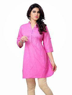 Beautiful pink cotton top for denim buy online at #craftshopsindia  #tops #kurtis #cottontops #cottonkurits