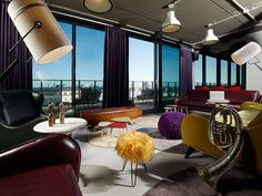 25hours Hotel Vienna has 34 suites in a converted university dormitory off the Ringstrasse in the newly cool Seventh District, with a funky terrace plunked on the rooftop.