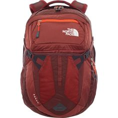 North Face Recon Hiking Backpack - Sequoia Red Acrylic Orange