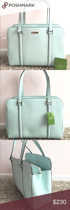 Kate Spade Newbury Lane Miles saffiano leather NWT This bag can easily hold all a girl needs for a day out, whether it's a commute, a work day, or just for fun. A separate zippered compartment in the middle keeps keys, wallet, or other important items tucked away and easily accessible. This item is in beautiful, brand new with tags condition. kate spade Bags Shoulder Bags