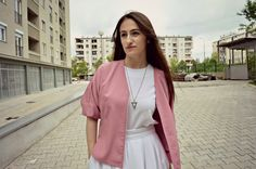 Dilek Aspires: PINK BOMBER JACKET fashion outfit
