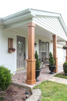 Front Porch Makeover with BEHR® + $100 GIVEAWAY - Shades of Blue Interiors