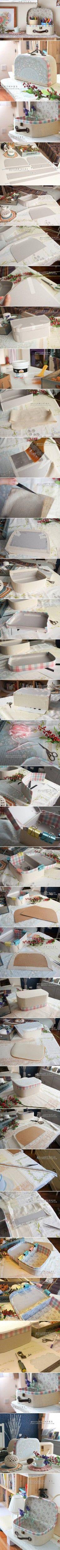 DIY Retro Cosmetic Case DIY Projects