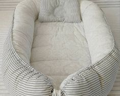 Double-sided Baby Nest for newborn babynest sleep bed cot Baby Nest Pattern, Baby Travel Bed, Snuggle Nest, Baby Nest Bed, Bed Bumpers, Baby Shower Presents, Baby Bassinet, Baby Cover, Baby Pillows