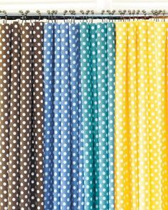 @Cricket Wardein  I saw this yellow polka dot shower curtain and thought it would look cute in Charlie's bathroom