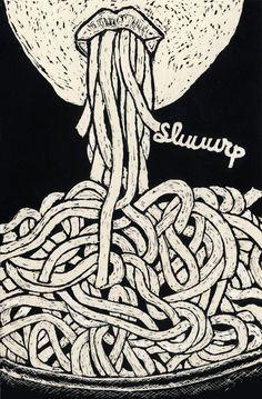 Sluuurp noodles illustration by Tal Brosh,