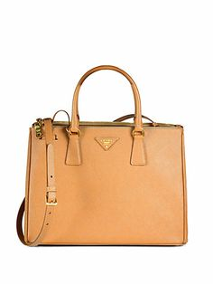 Prada - Saffiano Medium Double Zip Top-Handle Bag