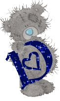Alfabeto tintineante de Me to You con corazones y estrellas.