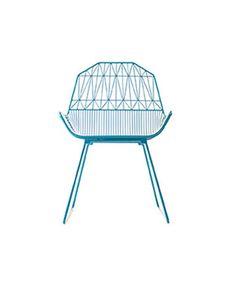 """Bend Goods Farmhouse Chair Peacock Blue   Gaurav Nanda   H 32"""", W 22"""" D 25"""" SH 16"""""""