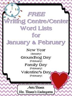 January and february writing centre center pages more