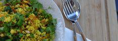 Κεχρί με Μανιτάρια & Σπανάκι   Vegan