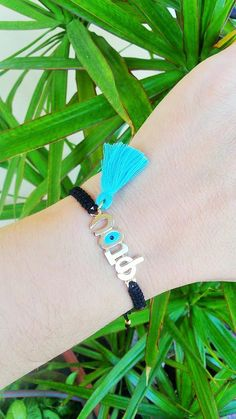 Evil Eye, Lucky bracelet,  Evil eye bracelet, evil eye jewelry, greek jewelry, greek evil eye, greek mati, gift mom, mom bracelet, ftou by ForThatSpecialDay on Etsy