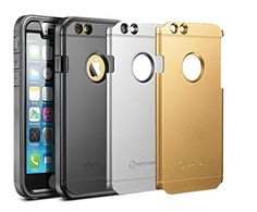 """iPhone 6 Case, New Trent Trentium 6S 4.7 [Ultra-thin] [Heavy Duty] Full-Body Rugged [Water resistant/Dirt/Shockproof] Case for Apple iPhone 6 with 4.7"""" screen [with Built-In Screen Protector ] [Black/Silver/Gold Interchangeable Back Plate Included] -NOT compatible to iPhone 6 Plus 5.5"""""""