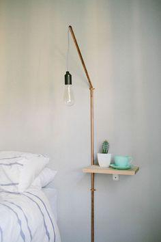 Lampen selber machen DIY Lampen Schlafzimmer Wandlampe