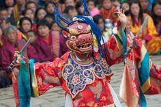 Festival in Bhutan, copyright Margot Raggett - Rough Guides