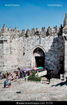 Damascus Gate Of The Old City In Jerusalem Israel