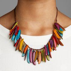 Tagua Jungle Necklace - Fair Trade, Handmade in Ecuador