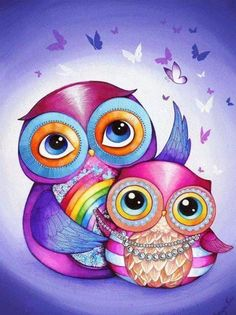 Beautiful owls! The deep colors