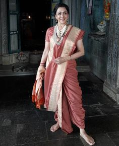 Hema Malini in South Indian style of sari.