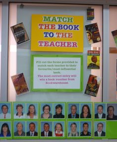 Book and reading promotion - Match the book to the teacher