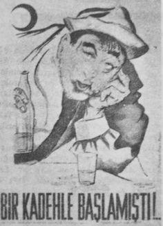 Türkiye Yeşilay cemiyeti alkolizm ile mücadele afişleri. Republic Of Turkey, The Republic, Turkey History, Old Ads, Once Upon A Time, Vintage Advertisements, Banners, Diy And Crafts, Commercial