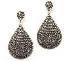 It's Pinterest, right? No one said you have to afford it...  Carolyn Hunter - Champagne Diamond Teardrop Large Earrings