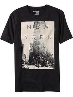 Mixed Feelings On Graphic Tees Hang Ten, T Shirt Photo Printing, Dope Shirt, Old Navy Men, Summer Tshirts, Neck T Shirt, New York City, Shirt Style, Moda Masculina