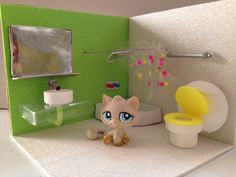 How to make a lps room loft based on our tutorials youtube diy how to make a lps shower como hacer un bao para little pet shop ccuart Images