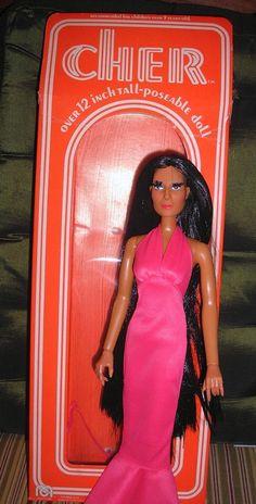 "Vintage 1976 Mego CHER 12"" Doll Action Figure Original Box #Mego #DollswithClothingAccessories"