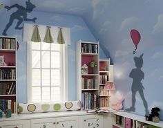 Peter pan's shadow wall stickers