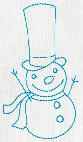 Jolly Snowman 2 | Urban Threads: Unique and Awesome Embroidery Designs