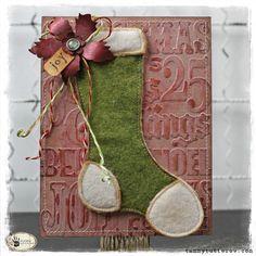 Tammy Tutterow Tim Holtz Sizzix Stocking Stuffer Card