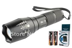 UltraFire 1600LM a100 CREE XM-L T6 LED UltraFire 5 Mode Zoomable Flashlight Torch Zoom for 3AAA + 2* 18650 Battery + Charger $19.11