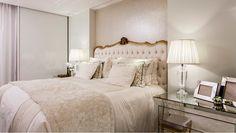 Suíte com decoração clássica e contemporânea e decoração com cores claras! - Decor Salteado - Blog de Decoração e Arquitetura