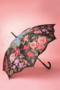 So Rainy - 50s Vintage Rose Garden Umbrella