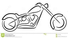 Motorcycle outline paper