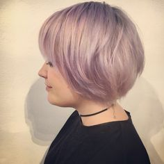 Lilac bowl hair cut by Emily Baedeker at Edo Salon in San Francisco using organic colour systems
