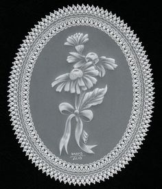 White-lacework: The embossed flowers are from Kannikar Sukseree - the lace frame is my own project
