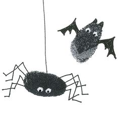 Spooky Thumbprints.. this would be cute for the little ones...