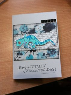 Card made by Noreen Meekins using Kaszazz stamp