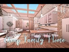 Bloxburg: Cheap Family Home No Gamepasses 24k - YouTube Two Story House Design, Tiny House Layout, Unique House Design, House Layouts, Tiny House Bedroom, Bedroom House Plans, House Rooms, House Plan With Loft, Simple House Plans