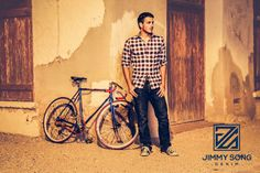 Tucson Arizona Photo shoot Cycling Hipster. Jimmy Song Denim. Jeans. Sunset. Editing. Jimmy Song Photography